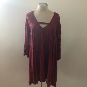 American Eagle Outfitters Tunic Burgundy S…